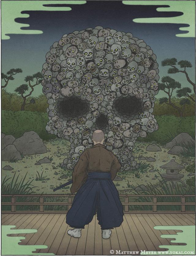 O-dokuro, yêu quái sở hữu diện mạo kinh dị nhất Nhật Bản - Ảnh 7.
