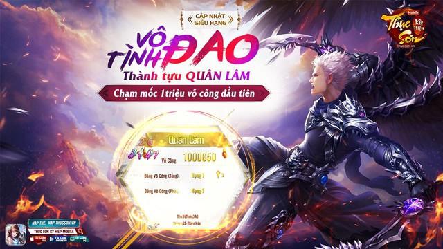 Thục Sơn Kỳ Hiệp Mobile đã có game thủ đạt 1 triệu võ công, trở thành Quân Lâm Thiên Hạ - Ảnh 2.