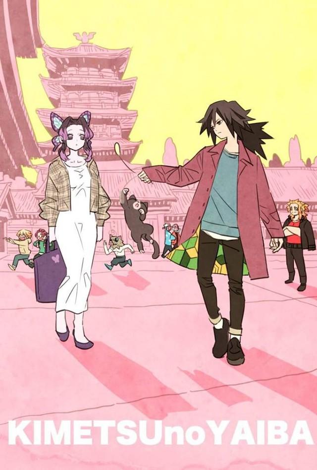 Các nhân vật trong Kimetsu no Yaiba trông sẽ thế nào nếu ở thời hiện đại? - Ảnh 2.