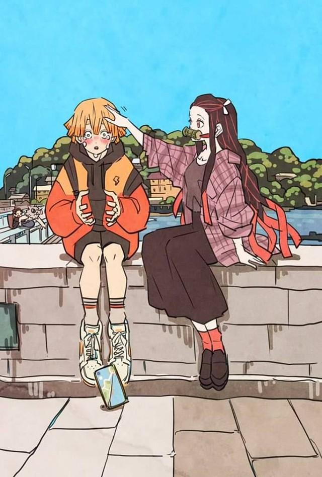 Các nhân vật trong Kimetsu no Yaiba trông sẽ thế nào nếu ở thời hiện đại? - Ảnh 1.