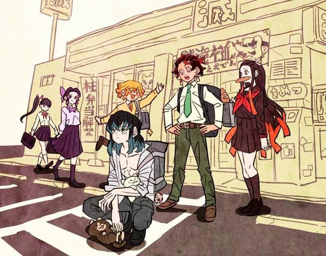 Các nhân vật trong Kimetsu no Yaiba trông sẽ thế nào nếu ở thời hiện đại? - Ảnh 6.