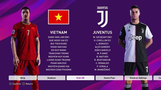 Bản mod chỉnh sửa khuôn mặt Văn Hậu, Văn Lâm trong PES 2020, cho phép trực tiếp điều khiển ĐTQG Việt Nam thi đấu - Ảnh 5.