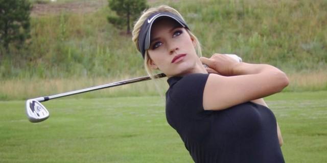 Nhan sắc nữ golf thủ nóng bỏng, mặc áo khoe ngực tới mức bị dọa giết vì quá quyến rũ - Ảnh 5.
