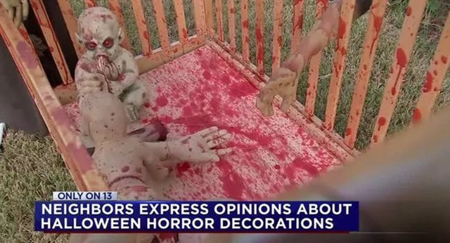 Dư luận tranh cãi về những màn trang trí Halloween khiếp đảm: Thú vị hay đáng dẹp bỏ? - Ảnh 5.