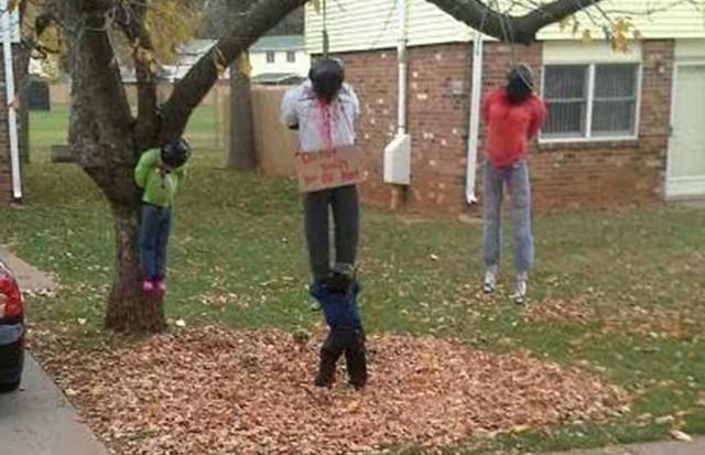 Dư luận tranh cãi về những màn trang trí Halloween khiếp đảm: Thú vị hay đáng dẹp bỏ? - Ảnh 9.
