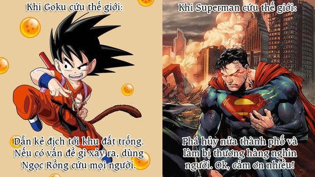Giải trí với loạt meme vui về cuộc chiến không cân sức giữa Goku và Superman - Ảnh 5.