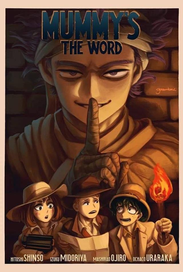 Giật mình khi thấy loạt poster My Hero Academia theo phong cách kinh dị - Ảnh 4.