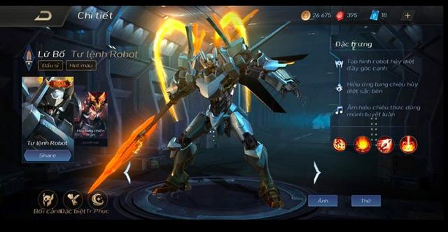 Liên Quân Mobile: Garena bonus 3 tướng/skin cho người nạp 800 nghìn quay Lữ Bố Robot - Ảnh 1.