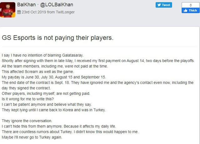 LMHT: Không chỉ ở VCS, hàng loạt player tại Thổ Nhĩ Kỳ đồng loạt tố tổ chức nợ lương vài tháng trời - Ảnh 2.
