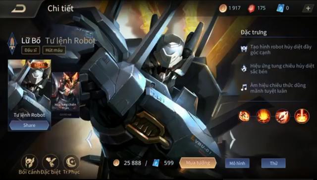 Liên Quân Mobile: Không cần nạp thẻ, game thủ vẫn nhận FREE Lữ Bố Tư Lệnh Robot siêu dễ - Ảnh 8.