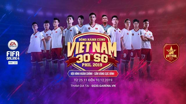 Lần đầu tiên FIFA Online 4 chơi lớn tặng miễn phí cầu thủ Việt Nam cho tất cả game thủ đồng hành cùng đội tuyển Việt Nam tại SEA Games 30 - Ảnh 1.
