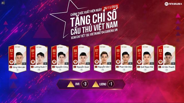 Lần đầu tiên FIFA Online 4 chơi lớn tặng miễn phí cầu thủ Việt Nam cho tất cả game thủ đồng hành cùng đội tuyển Việt Nam tại SEA Games 30 - Ảnh 4.