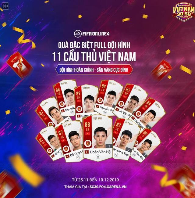 Lần đầu tiên FIFA Online 4 chơi lớn tặng miễn phí cầu thủ Việt Nam cho tất cả game thủ đồng hành cùng đội tuyển Việt Nam tại SEA Games 30 - Ảnh 6.