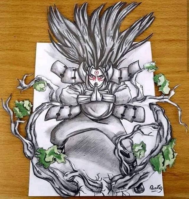 Chiêm ngưỡng bộ ảnh trắng đen theo phong cách 3D đầy ma mị của các nhân vật trong Naruto - Ảnh 4.