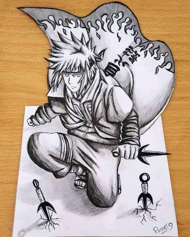 Chiêm ngưỡng bộ ảnh trắng đen theo phong cách 3D đầy ma mị của các nhân vật trong Naruto - Ảnh 1.