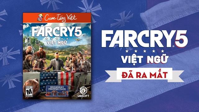 Sau 2 năm chờ đợi, siêu phẩm Farcry 5 đã có bản Việt ngữ - Ảnh 1.