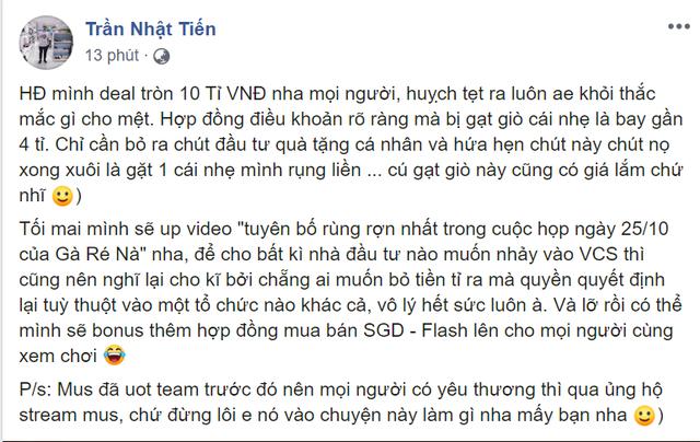 LMHT: Chủ cũ SGD hứa hẹn up video bóc phốt Garena, khẳng định Optimus không liên quan tới drama - Ảnh 3.