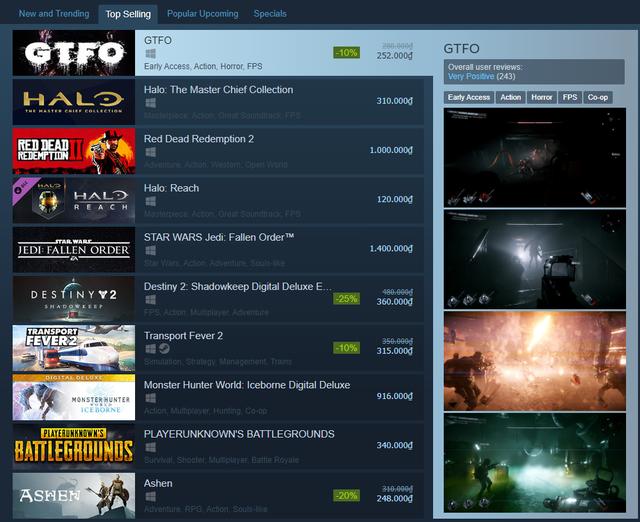"""Vừa ra mắt, """"Left 4 Dead ngoài không gian"""" đã leo top 1 thịnh hành trên Steam - Ảnh 1."""