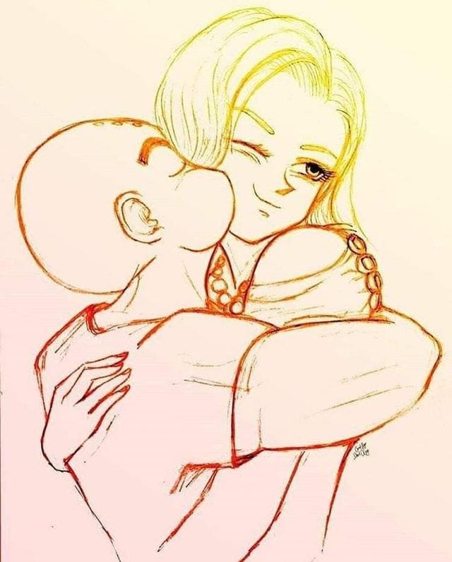 Ngắm loạt fan art mùi mẫn, sướt mướt của các cặp đôi nổi tiếng trong Dragon Ball chỉ thèm có gấu ngay - Ảnh 20.