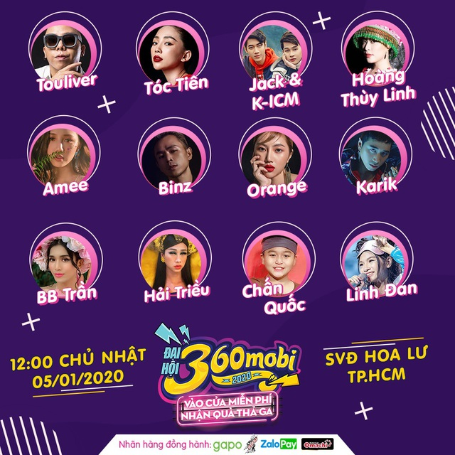 """Đại hội 360mobi 2020: Hoàng Thùy Linh, Karik và hàng loạt sao lớn của showbiz Việt """"đổ bộ sự kiện Game đầu năm mới - Ảnh 1."""