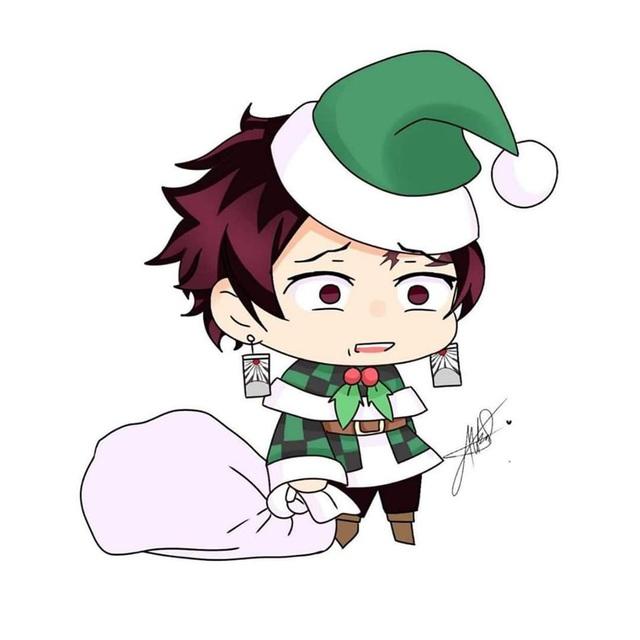 Hòa cùng không khí Noel, dàn nhân vật trong Kimetsu no Yaiba diện trang phục Giáng Sinh cực yêu - Ảnh 14.