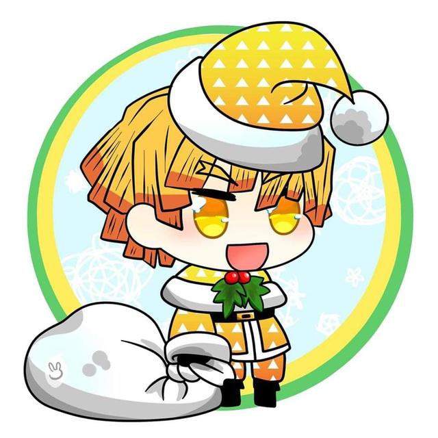 Hòa cùng không khí Noel, dàn nhân vật trong Kimetsu no Yaiba diện trang phục Giáng Sinh cực yêu - Ảnh 4.