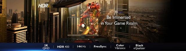 BenQ EX2780Q 144Hz - Màn hình chơi game đỉnh cao với công nghệ HDRi hàng đầu thế giới - Ảnh 3.
