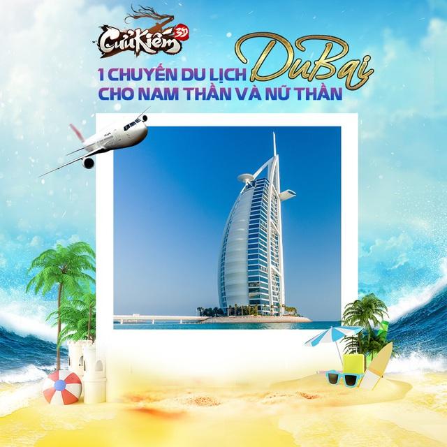 Cửu Kiếm 3D mở sự kiện Nam Thần - Nữ Thần siêu hoành tráng, tặng 2 suất du lịch Dubai, tổng giải thưởng lên đến 1 tỷ đồng - Ảnh 3.