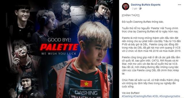 Vừa chính thức nói lời chia tay Dashing Buffalo, Palette đã xuất hiện ở Gaming House của GAM? - Ảnh 1.