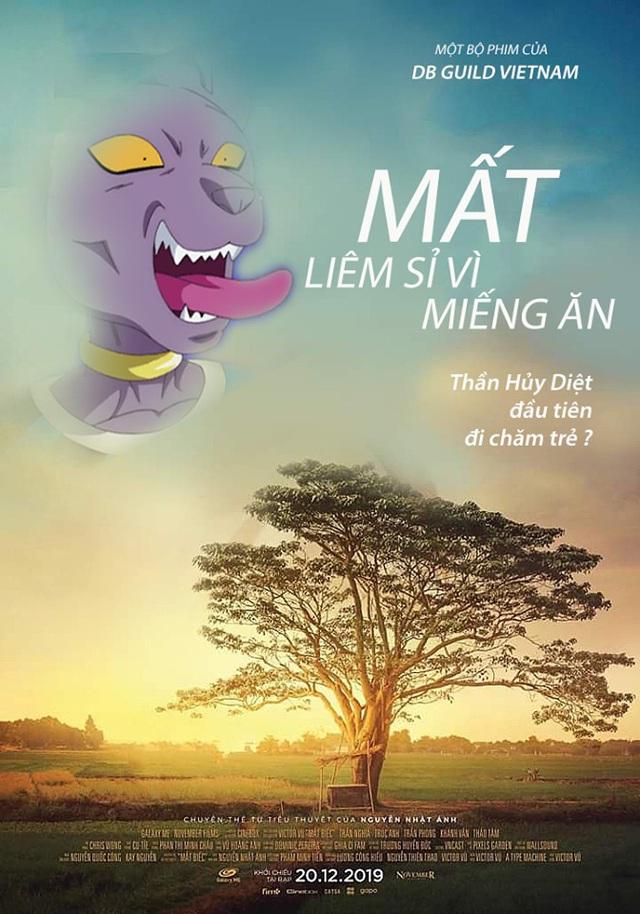 Chết cười với loạt ảnh chế Dragon Ball lấy cảm hứng từ poster phim Mắt Biếc - Ảnh 7.