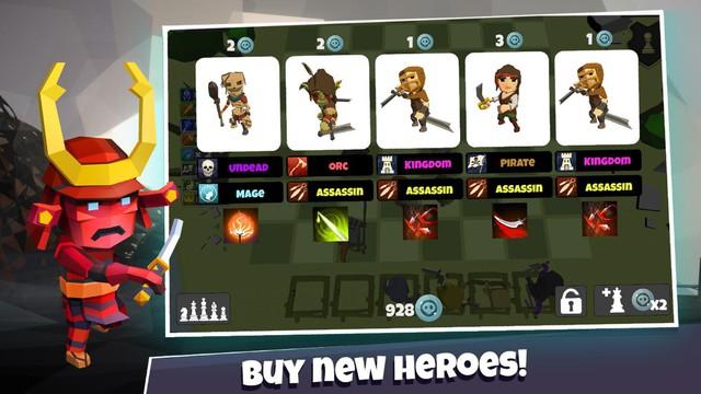 Heroes Auto Chess - game mobile nhái hiện tượng mới nổi DOTA Auto Chess nhưng còn hạn chế - Ảnh 4.