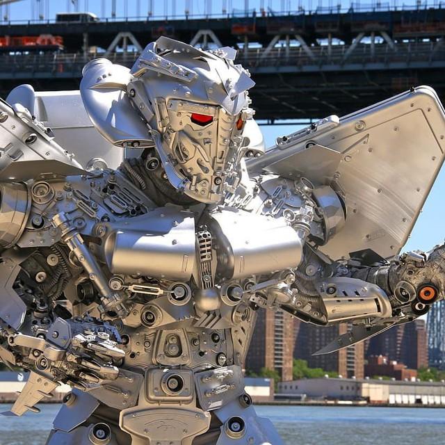 Mãn nhãn với bộ sưu tập robot Transformers được chế biến từ phế liệu cũ - Ảnh 19.