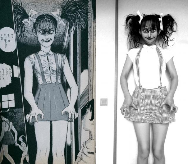 Hết hồn với màn cosplay của cô gái chuyên hóa thân thành ma trong manga Junji Ito - Ảnh 3.
