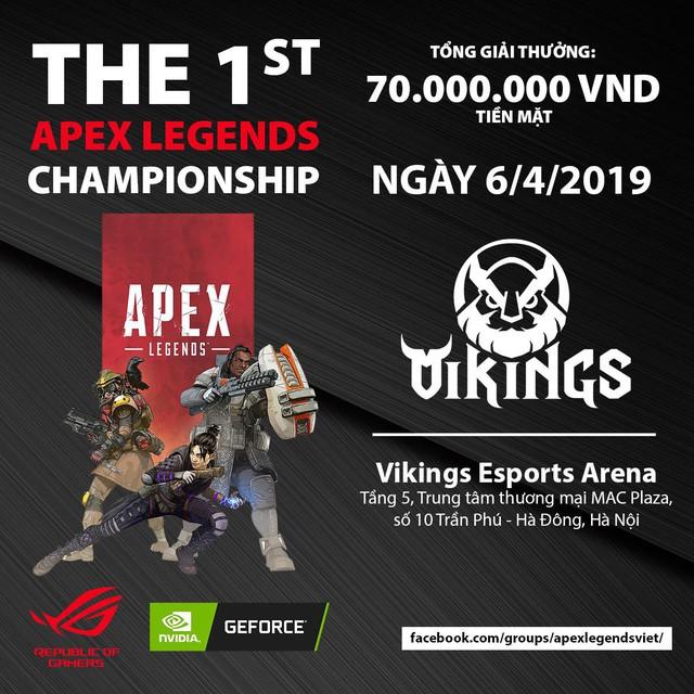 2 ông lớn Asus ROG và Nvidia công bố giải Apex Legends đầu tiên tại Việt Nam, giải thưởng khủng 70 triệu đồng tiền mặt - Ảnh 1.