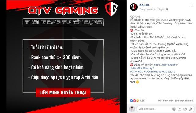LMHT: QTV xác nhận sắp trở lại thi đấu chuyên nghiệp, thành lập đội tuyển mới thi đấu tại VCSB - Ảnh 3.
