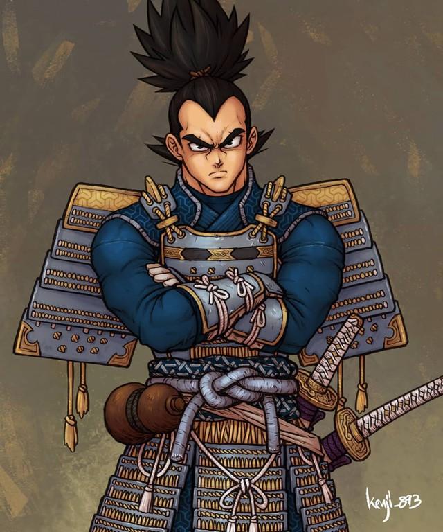 Loạt tranh siêu phẩm khi các nhân vật Dragon Ball vào vai lãnh chúa Samurai - Ảnh 10.