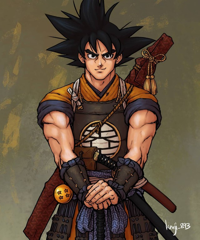 Loạt tranh siêu phẩm khi các nhân vật Dragon Ball vào vai lãnh chúa Samurai - Ảnh 9.