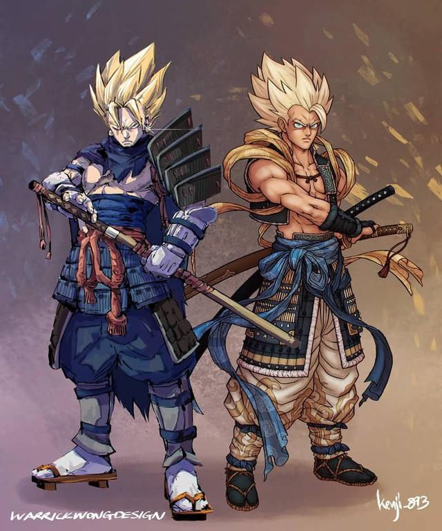 Loạt tranh siêu phẩm khi các nhân vật Dragon Ball vào vai lãnh chúa Samurai - Ảnh 8.