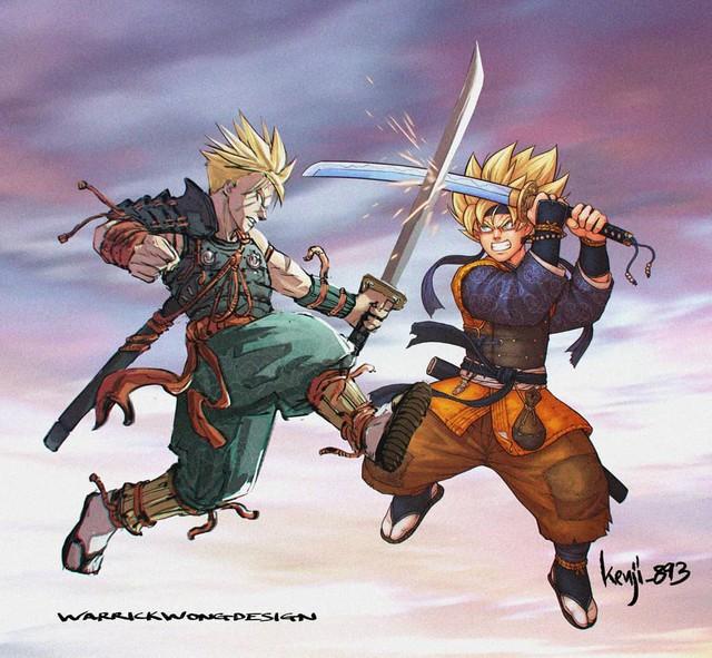 Loạt tranh siêu phẩm khi các nhân vật Dragon Ball vào vai lãnh chúa Samurai - Ảnh 5.