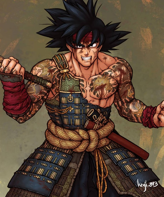 Loạt tranh siêu phẩm khi các nhân vật Dragon Ball vào vai lãnh chúa Samurai - Ảnh 3.