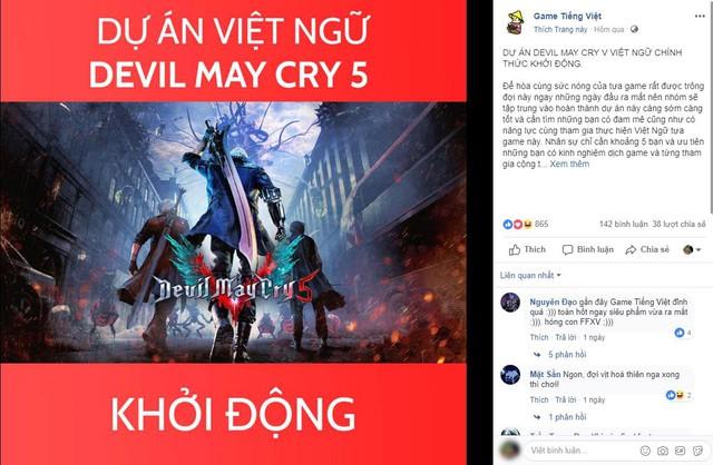 Vừa ra mắt được 1 ngày, Devil May Cry 5 đã khởi động dự án Việt Hóa - Ảnh 1.