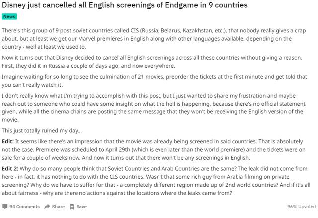 Avengers: Endgame- Disney quyết định hủy chiếu bản phụ đề tại 9 quốc gia để trừng phạt kẻ spoil clip 5 phút - Ảnh 4.