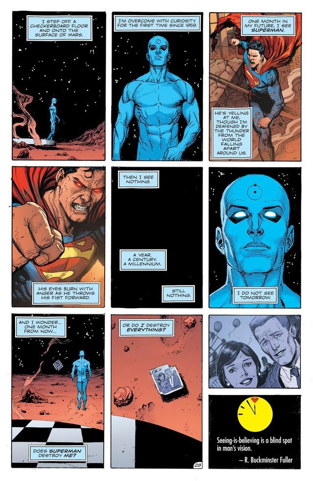 Dr. Manhattan, thực thể quyền năng trong Watchmen đã đánh bại các siêu anh hùng DC như thế nào? - Ảnh 2.