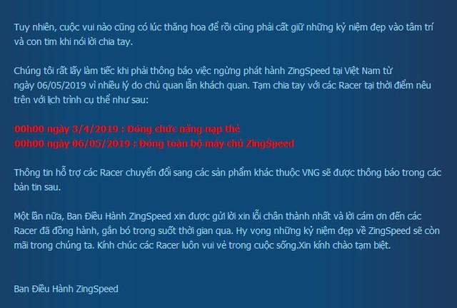 Tưởng đùa lại hóa thật, huyền thoại một thời ZingSpeed đóng cửa tại Việt Nam - Ảnh 1.