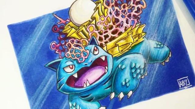 Mãn nhãn với những bức fan art của người hâm mộ về các loài Pokemon khi được chuyển hệ - Ảnh 2.