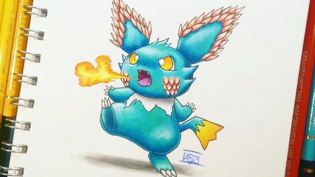 Mãn nhãn với những bức fan art của người hâm mộ về các loài Pokemon khi được chuyển hệ - Ảnh 5.