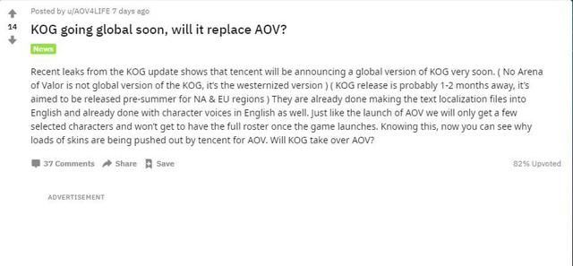 Tin đồn từ Reddit: King of Glory sắp có bản quốc tế, đặt dấu chấm hết cho Liên Quân Mobile - Ảnh 2.