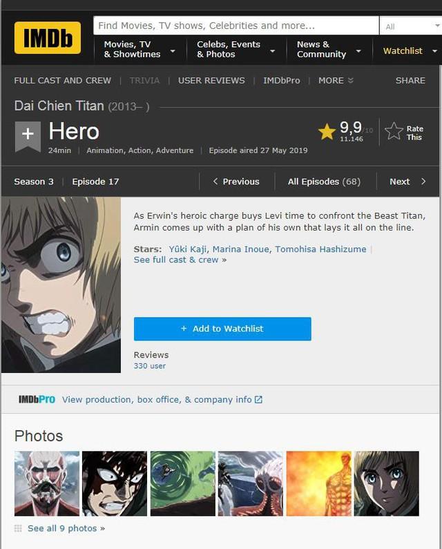 Attack On Titan xuất sắc vượt mặt Game of Throne nhận điểm đánh giá cao chót vót - Ảnh 1.