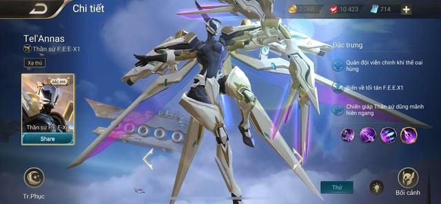 Liên Quân Mobile: Game thủ đen đủi sẽ mất tiền triệu cho TelAnnas Thần sứ F.E.E-X.1 - Ảnh 1.