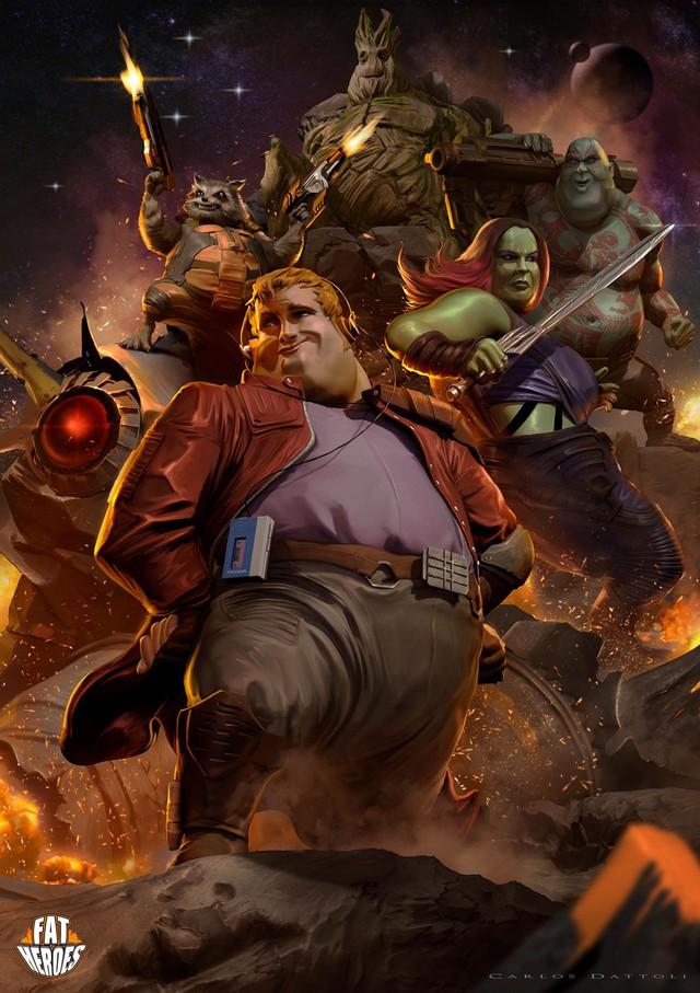 Chết cười khi phong cách của Thor Béo nhập vào các siêu anh hùng khác, tạo ra một vũ trụ Fat Heroes - Ảnh 4.